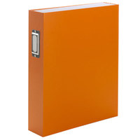 Smead 70868 SuperTab Letter Size 6-Pocket Expanding Bookshelf Organizer - Oversized Blank Tabs, Magnetic Flap Closure, Orange