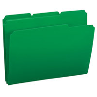 Smead 10502 Waterproof Poly Letter Size File Folder - Standard Height with 1/3 Cut Assorted Tab, Green - 24/Box