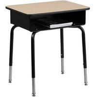 Flash Furniture FD-DESK-GG Natural High Pressure Laminate Student Desk with Open Front Book Box