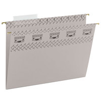Smead 64092 8 1/2 inch x 11 inch Steel Gray 1/3 Cut Tab Tuff Hanging Folder With Easy Slide Tab - Letter - 20/Box