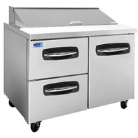 Nor-Lake NLSP48-12-003 AdvantEDGE 48 1/4 inch 1 Door 2 Drawer Refrigerated Sandwich Prep Table