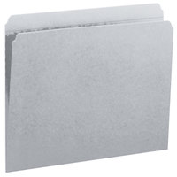 Smead 12334 Letter Size File Folder - Standard Height with Reinforced 1/3 Cut Assorted Tab, Gray - 100/Box