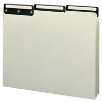 Smead 50534 Green Blank File Guide with 1/3 Metal Tab, Letter   - 50/Box