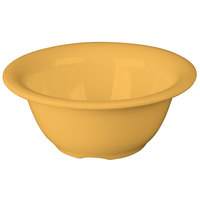 Carlisle 3303822 Sierrus 10 oz. 5 3/8 inch Honey Yellow Rimmed Melamine Nappie Bowl - 24/Case