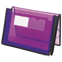 Smead 71952 Letter Size Poly Expansion Wallet - 2 1/4 inch Expansion with Flap and Cord Closure, Purple