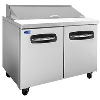 Nor-Lake NLSP48-12 AdvantEDGE 48 1/4 inch 2 Door Refrigerated Sandwich Prep Table