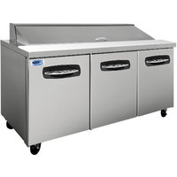 Nor-Lake NLSP72-18 AdvantEDGE 72 3/8 inch 3 Door Refrigerated Sandwich Prep Table