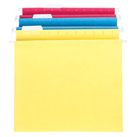 Smead 64264 8 1/2 inch x 11 inch Assorted Color 2 inch Capacity Box Bottom Hanging Folder - Letter - 25/Box