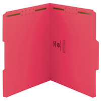 Smead 12742 WaterShed/CutLess Letter Size Fastener Folder with 2 Fasteners - 50/Box