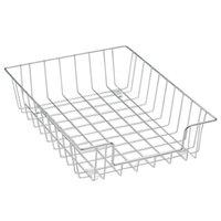 Fellowes 60012 14 1/8 inch x 10 inch x 3 inch Silver Wire Desk Tray Organizer
