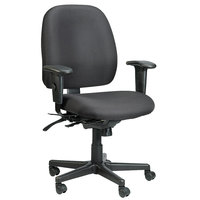 Eurotech 498SL-AT33 4x4 SL Series Black Fabric Mid Back Multifunction Swivel Office Chair