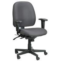 Eurotech 498SL-H5511 4x4 SL Series Charcoal Fabric Mid Back Multifunction Swivel Office Chair
