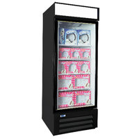 Nor-Lake NLGFP23-HG-B AdvantEDGE 27 inch Black Glass Door Merchandiser Freezer - 22.1 Cu. Ft.