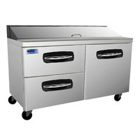 Nor-Lake NLSP60-16-003 AdvantEDGE 60 3/8 inch 1 Door 2 Drawer Refrigerated Sandwich Prep Table