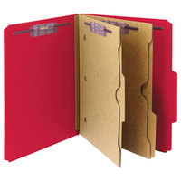 Smead 14082 SafeSHIELD Letter Size Classification Folder with 2 Pockets - 10/Box