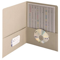 Smead 87856 Letter Size Heavyweight Textured 2-Pocket Paper Pocket Folder, Gray - 25/Box