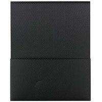 Smead 87805 Organized Up Stackit Letter Size 2-Pocket Poly Pocket Folder, Black - 5/Pack