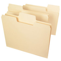 Smead 11920 SuperTab Letter Size File Folder - Standard Height with 1/3 Cut Assorted Tab, Manila - 24/Pack