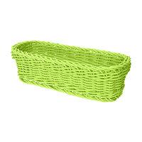 GET WB-1507-G Designer Polyweave 10 inch x 4 3/4 inch x 3 inch Green Rectangular Plastic Basket