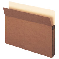 Smead 73800 Legal Size File Pocket, 2 inch Expansion, Redrope - 50/Box
