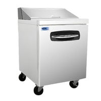 Nor-Lake NLSP27-8 AdvantEDGE 27 1/2 inch 1 Door Refrigerated Sandwich Prep Table