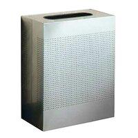 Rubbermaid SR18ERB Silhouettes Metallic Silver Steel Designer Rectangular Waste Receptacle - 40 Gallon (FGSR18ERBSM)