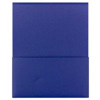 Smead 87806 Organized Up Stackit Letter Size 2-Pocket Poly Pocket Folder, Blue - 5/Pack