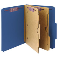 Smead 14077 SafeSHIELD Letter Size Classification Folder with 2 Pockets   - 10/Box