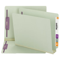 Smead 34725 8 1/2 inch x 11 inch Gray/Green End Tab 3 inch Expansion File Folder with 2 Fasteners - Letter - 25/Box