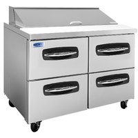 Nor-Lake NLSP48-12-001 AdvantEDGE 48 1/4 inch 4 Drawer Refrigerated Sandwich Prep Table