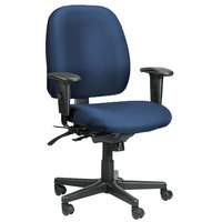 Eurotech 498SL-AT30 4x4 SL Series Navy Fabric Mid Back Multifunction Swivel Office Chair