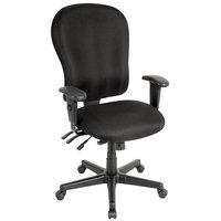 Eurotech FM4080-AT33 4x4 XL Series Black Fabric Mid Back Swivel Office Chair