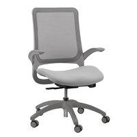 Eurotech MF22 Hawk Series Grey Mesh Mid Back Swivel Office Chair