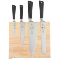 Mercer M21990 ZÜM 5 Piece Rubberwood Magnetic Board and Knife Set