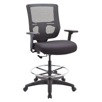 Eurotech EHS5499 Apollo II Series Black Mesh Mid Back Swivel Office Stool with Extended Height