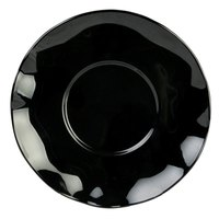 Thunder Group RF1065BW 6 1/2 inch Black Pearl Saucer - 12/Pack