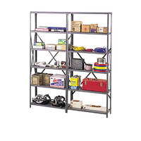 Tennsco IPB871MGY 87 inch Gray Industrial Post Kit for 36 inch / 48 inch Wide Shelves