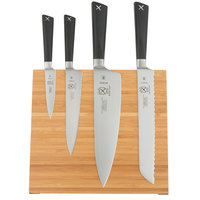 Mercer M21990BM ZÜM 5 Piece Bamboo Magnetic Board and Knife Set