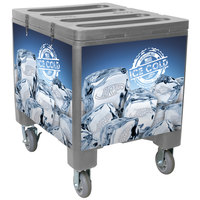 IRP 2000 Gray Ice Caddy 200 lb. Mobile Ice Bin / Beverage Merchandiser