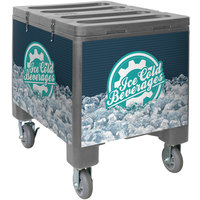 IRP 2000 Gray Ice Caddy 200 lb. Mobile Ice Bin / Beverage Merchandiser
