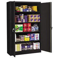 Tennsco J2478SUBK 48 inch x 24 inch 78 inch Black Jumbo Storage Cabinet