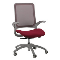 Eurotech MF22 Hawk Series Burgundy Mesh Mid Back Swivel Office Chair