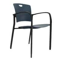 Eurotech STAQGLIDENVY Staq Series Navy Plastic Chair with Glides