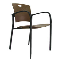 Eurotech STAQGLIDECOF Staq Series Coffee Plastic Chair with Glides