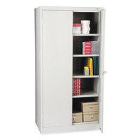 Tennsco 1480LGY High Standard 36 inch x 24 inch x 72 inch Light Gray Storage Cabinet