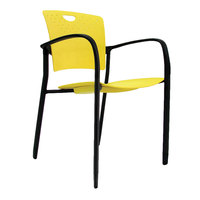 Eurotech STAQGLIDEYEL Staq Series Yellow Plastic Chair with Glides