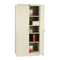 Tennsco 2470PY 36 inch x 24 inch x 78 inch Putty High Deluxe Storage Cabinet
