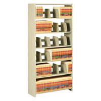 Tennsco 1276PCSD Snap-Together Sand 6 Shelf Starter Set - 36 inch x 12 inch x 76 inch