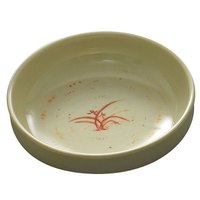 Thunder Group 1904GD Gold Orchid 6 oz. Round Flat Bowl - 12/Case