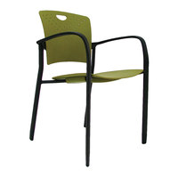 Eurotech STAQGLIDEGRN Staq Series Green Plastic Chair with Glides